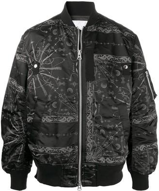 Sacai Bandana Print Bomber Jacket