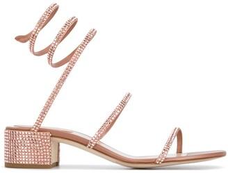 Rene Caovilla Cleo crystal-embellished sandals