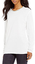 Lauren James Pop-Collar Long-Sleeve Tee