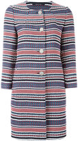 Tagliatore striped coat - women - Cotton/Acrylic/Polyester - 44