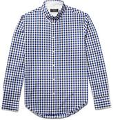 Rag & Bone Tomlin Slim-fit Button-down Collar Gingham Cotton-poplin Shirt - Royal blue