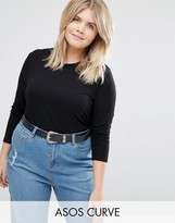 Asos Long Sleeve Top With Skinny Crew Neck 2 Pack