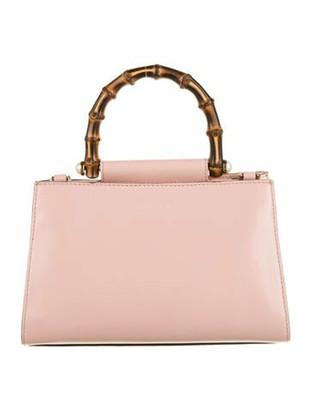 Gucci Mini Nymphaea Bamboo Top Handle Bag Pink