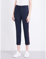 Sandro Skinny cropped twill trousers