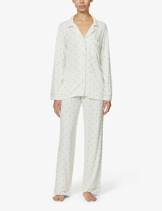 Eberjey Giving Palm stretch-woven pyjama set