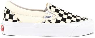 Vans OG Classic Slip-On LX in Checkerboard | FWRD