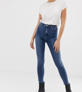 Asos DESIGN Tall Ridley high waisted skinny jeans in mid wash blue