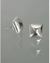 Argento Vivo silver pyramid stud earrings