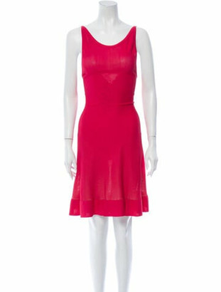 Alaia Scoop Neck Knee-Length Dress w/ Tags Pink