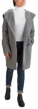 Cole Haan Hooded Teddy Asymmetrical Coat