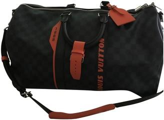 Louis Vuitton Keepall Navy Cloth Bags