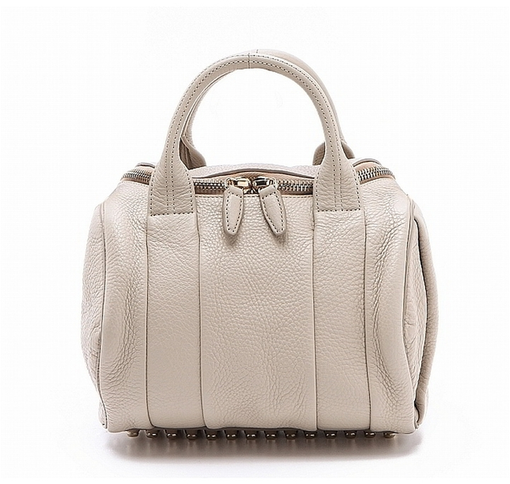 Alexander Wang Rockie Bag In Lilac With Rose Gold Hardware