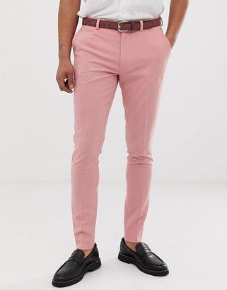 Asos Design DESIGN super skinny smart trousers in dusky rose pink
