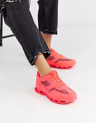 Asos DESIGN Detroit bubble sole sneakers in neon pink