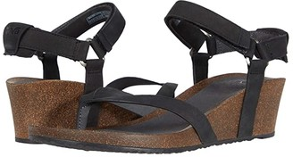Teva Mahonia Wedge Thong (Black) Women's Shoes