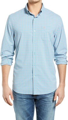 Southern Tide brrr Microcheck Performance Button-Down Shirt
