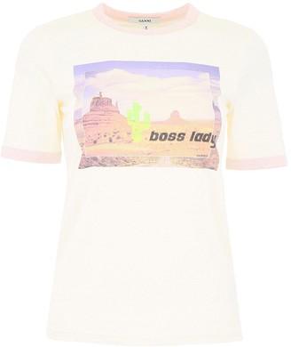 Ganni Graphic Printed T-Shirt
