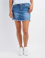 Charlotte Russe Destroyed Denim Mini Skirt