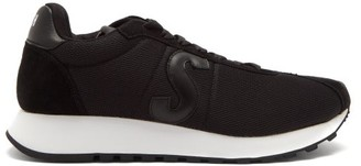 Paul Smith Seventies Suede-trimmed Technical-fabric Trainers - Black