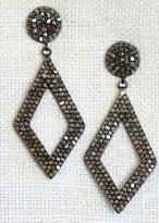 Designs By Alina 'anniversary' Pave Diamond Earrings