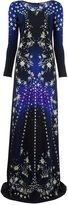 Roberto Cavalli gradient star print dress - women - Cotton/Spandex/Elastane/Viscose - 46
