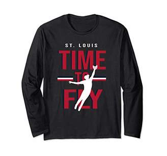 Fly London Time To St Louis Baseball Gift Long Sleeve T-Shirt