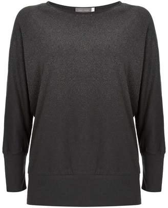 Mint Velvet Grey Glitter Batwing T-Shirt