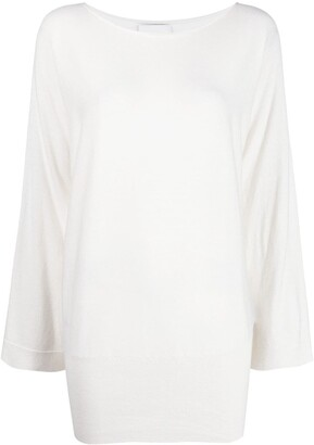 Allude Boat-Neck Cotton-Blend Jumper