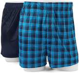 Croft & Barrow Men's 2-pack Solid & Patterned Microfiber Boxers