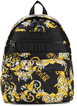 Versace Jeans Couture Logo Baroque Print Backpack