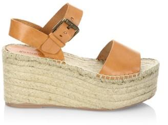 Soludos Minorca Leather Espadrille Platform Wedge Sandals