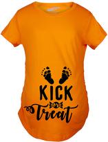 Orange 'Kick or Treat' Maternity Tee
