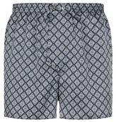 Derek Rose Motif Print Silk Boxer Shorts