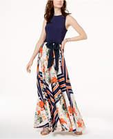 INC International Concepts I.n.c. Petite Tie-Waist Maxi Dress, Created for Macy's