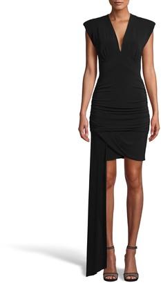 Nicole Miller Matte Jersey Mini Dress With Drape