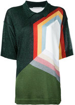 Marco De Vincenzo geometric pattern short sleeve jumper - women - Polyamide/Polyester/Acetate - 46