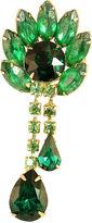 One Kings Lane Vintage Emerald Crystal Dangle Brooch