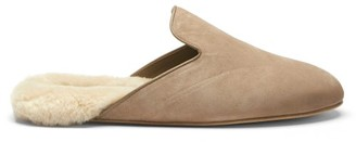 Inabo - Fritz Suede And Shearling Slippers - Beige