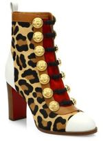 Christian Louboutin Who Dances 85 Leopard-Print Calf Hair Booties