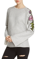 Nation Ltd. Embroidered-Sleeve Pullover - 100% Exclusive
