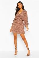 boohoo Dalmation Spot Ruffle Smock Dress