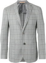 Corneliani checked button front blazer
