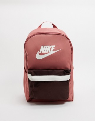 Nike Heritage 2.0 backpack in dusty red