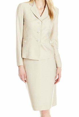 Le Suit LeSuit Women's 3 Button Notch Lapel Skirt Suit