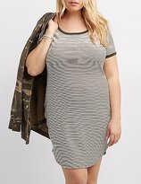Charlotte Russe Plus Size Striped Ringer Bodycon Dress