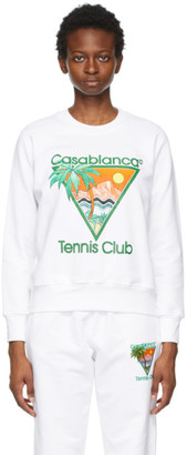 Casablanca White Tennis Club Sweatshirt