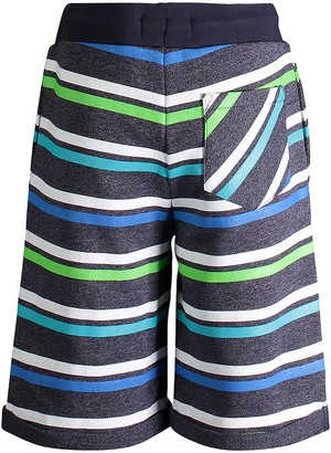 Andy & Evan Boys' Casual Shorts NAVY - Navy & Green Stripe French Terry Shorts - Infant, Toddler & Boys