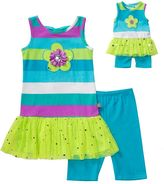 Dollie & Me Girls 4-14 Drop-Waist Tutu Tunic & Knit Biker Shorts Set