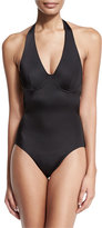 Norma Kamali Underwire Halter Mio One-Piece Swimsuit, Black