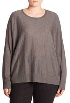Eileen Fisher, Plus Size Dropped Shoulder Sweater